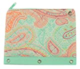 Carolina Pad Studio C Quilted Storage Pouch for Binders ~ Paisley Please (10'' x 7.5''; Ringlets for Use in Binders; 1 Zipper Pocket)