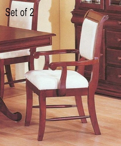 Set of 2 Louis Phillipe Collection Cherry Arm Dining ()