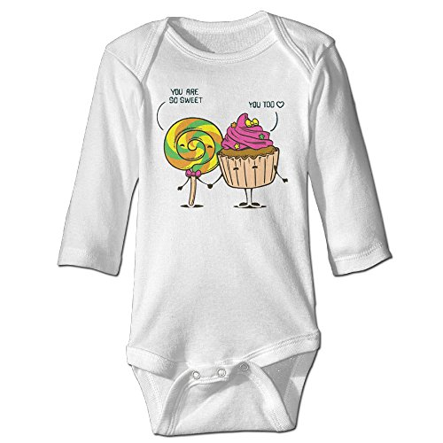 Baby Bodysuit Sweets One Piece Baby Long Sleeve Girl Jumpsuit 12 Months (Trendy Lab Coats)