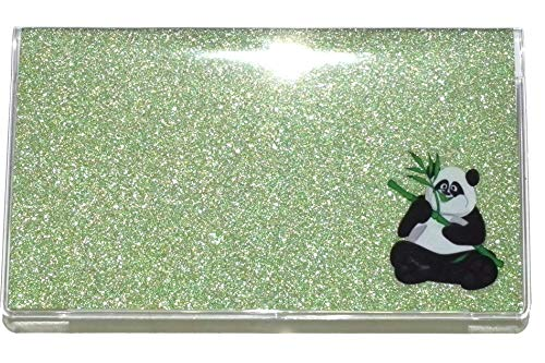 (3 Year 2019-20-21 Green Glitter Panda Bear Pocket Calendar Planner w/Notepad Bling Sparkle)