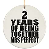 Best Frozen Gift For A 2 Year Olds - Anniversary Ornament 2 Years of Being Together Mrs Review