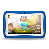 Kids Tablet PC, 7' HD Eyes-Protection Screen Android 7.1 1GB RAM 8GB ROM Tablet with WIFI Kids Games & Learning Software Pre-Installed for children's day best gift set(Blue)
