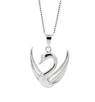 ... 312f3 3e16d LaRaso Co Sterling Silver Open Wing Swan Pendant Womens  Jewelry Necklace (20 Inch ... bf9a8bd9e