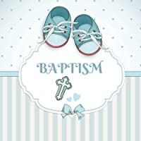 """Baptism: Keepsake Message Log With 100 Formatted Lined & Unlined Pages With Gift Log, Quotes, Photo Pages, For Family And Friends To Write In, For Use At Christening, Naming Ceremony, Baby Dedications, Birthdays Home, Wishes And Comments, 8.5""""x8.5"""" Paperback"""