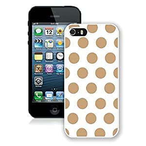 Pop Stylish Case For Iphone 6 4.7Inch Cover Case Polka Dot White and Brown Durable Soft Silicone White Phone Cover Case For Iphone 6 4.7Inch Cover Speck