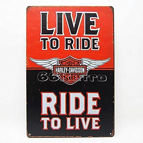 Vivir a paseo y paseo, vivir, Harley Davidson (0201001 ...