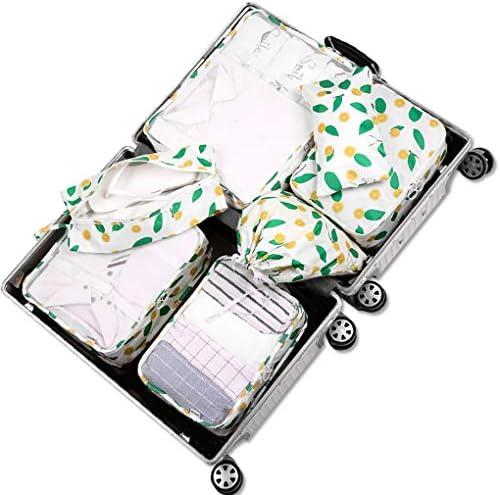 7ピースパッキングキューブマルチカラー旅行荷物オーガナイザースーツケースパッキングキューブ旅行荷物袋パッキングオーガナイザー,A