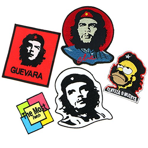 Lot of 5 (4+1) CHE GUEVARA Army Military Logo Jacket T-shirt Embroidered Iron / Sew On Patch - Model Master Insignia Yellow