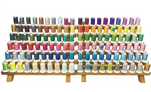 Simthread 120 Spools Polyester Machine Embroidery Thread Kit 40 Weight 550Y(500M) for Home Embroidery Sewing Machines