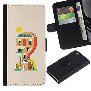 Protector de cuero de la PU de la cubierta del estilo de la carpeta del tirón BY RAYDREAMMM - Apple Iphone 5 / 5S - Mario nivel