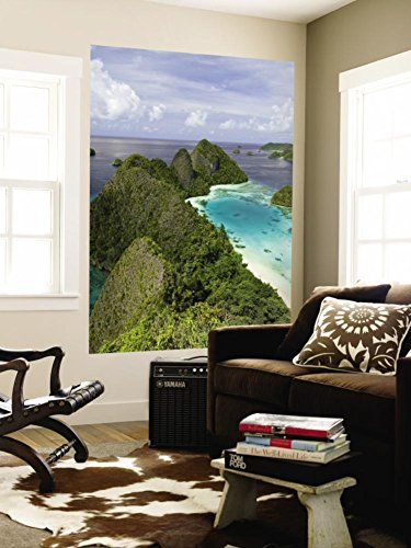 View of Islands Covered With Vegetation, Raja Ampat, New Guinea Island, Indonesia Wall Mural 48 x 72in by DANITA DELIMONT POD