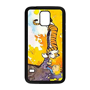 Calvin and Hobbes Fashion Comstom Plastic case cover For Samsung Galaxy S5
