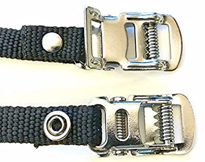 """(Pair) SPINNER Bikes Pedal TOE Straps (7/16"""" W x 17-5/8"""" L) Universal Replacement Foot Pedal STRAPS for SPINNER Excersise Stationary Bike / Bicycle Cycle (Schwinn, LeMond, Startrac, Matrix)"""