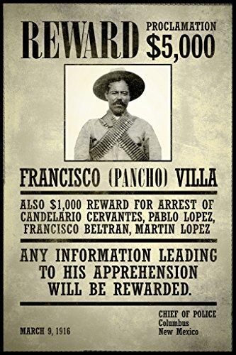 Wanted Francisco Pancho Villa Poster