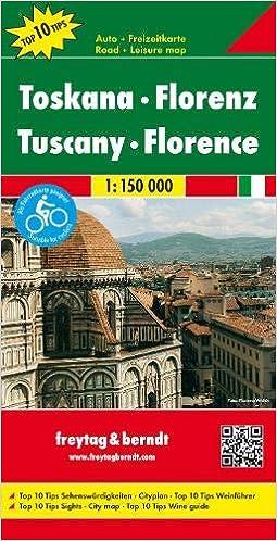 Toskana Karte Deutsch.Toskana Florenz Autokarte 1 150 000 Top 10 Tips