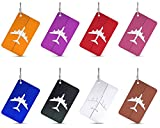 Luggage Travel Tags, G2PLAY 8 Packs Luggage Bag Suitcase Tag Labels (8 colors)
