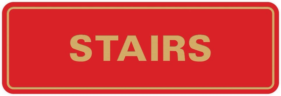 Standard Stairs Sign Black Small