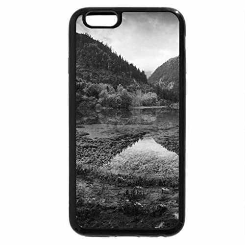 iPhone 6S Case, iPhone 6 Case (Black & White) - Colorful Autumn at Lake