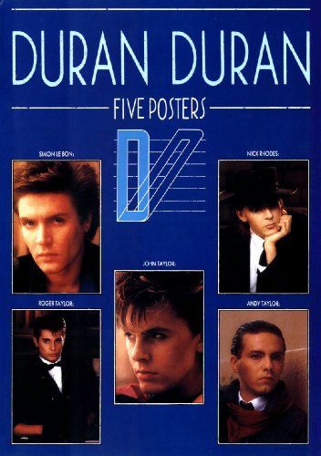 Poster Face Shot - Duran Duran - Blue Poster Book - 5 Separate Unbound Posters