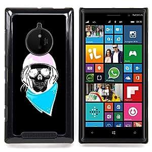 - Biker Blue Pink Black Biker Helmet/ Duro Snap en el tel????fono celular de la cubierta - Cao - For Nokia Lumia 830