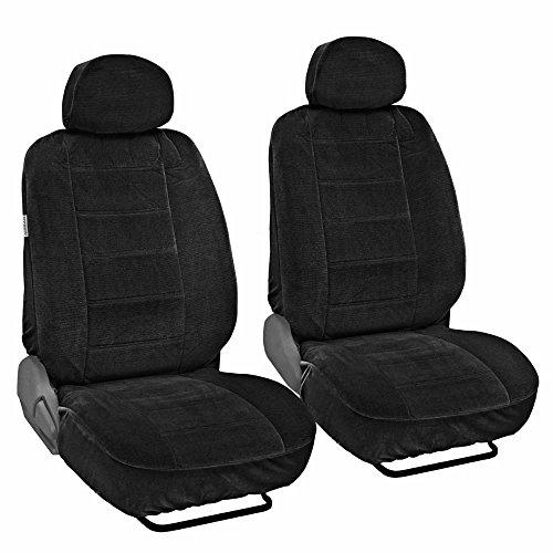 UPC 826942070952, Fine Velvet Seat Covers for Car SUV Van - Durable Rich Velour Fabric Front Pair - Driver & Passenger (Black)