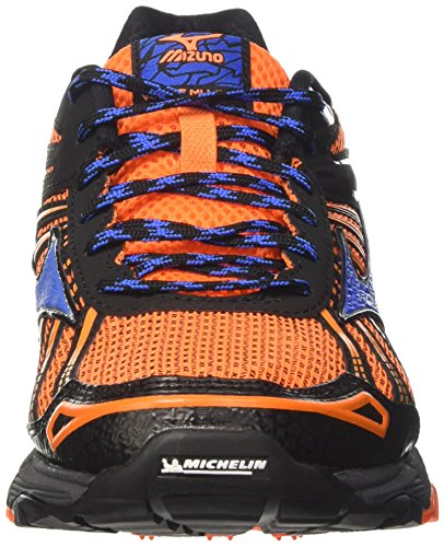Mizuno Wave Hitogami 4 (W), Zapatillas de Running para Asfalto Hombre Naranja (Clownfish/strong Blue/dark Shadow)