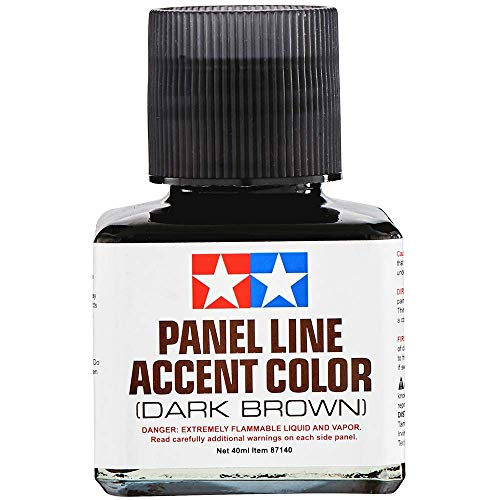 Tamiya America, Inc Panel Line Accent Color 40ml Dark Brown, TAM87140