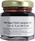 (Amber) Glass Paint Lacquer Stain, Permanent 1.5-Ounce Professional Stained Glass Like Paint