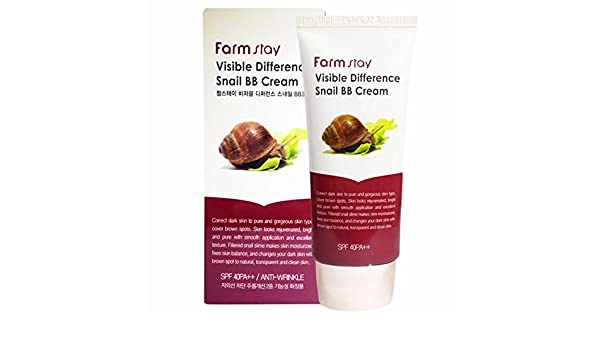 Farm Stay - Visible DIFFERENCE Snail BB Cream - Antiarrugas BB crema con caracol Moco para un makelloses piel de para Mujeres - strei chfä higes Make Up ...