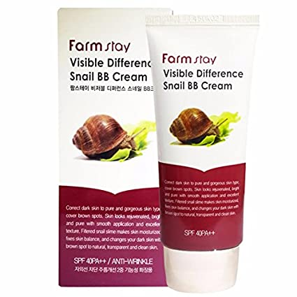 Farm Stay – Visible DIFFERENCE Snail BB Cream – Antiarrugas BB crema con caracol Moco para