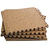 Dooboe Interlocking Foam Mats – Interlocking Cork Flooring – Puzzle Floor Mat - Cork Interlocking Tiles, Anti-Fatigue, Premium Foam Mat with Borders
