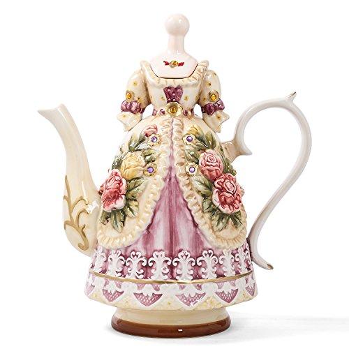 Grace Teapot Set - FORLONG FL5008 Large Teapot Porcelain Tea Set Tea Cups Teapot Grace Adult Tea set