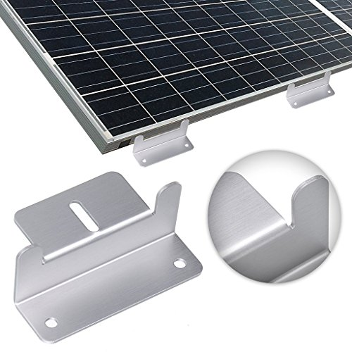 Aluminium Alloy Solar Z Brackets Set,Solar Panel Mounting Z Brackets with Nuts,Bolts and Washers, Suitable for RV,Boat,Roof,Wall and other Off Gird Installation(8pcs)