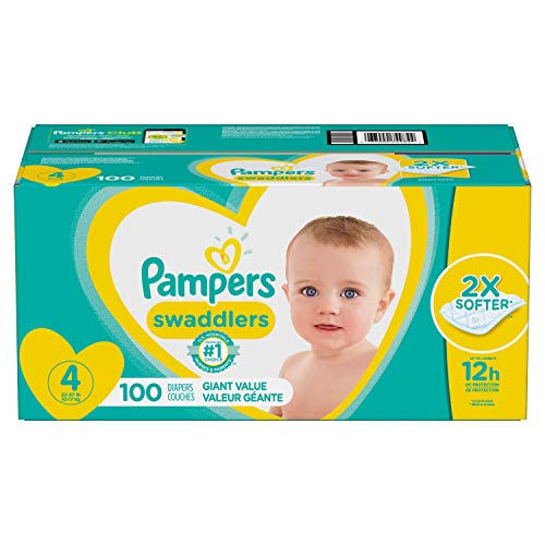 Diapers Size 4 100 Count Pampers Swaddlers Disposable Baby Diapers Giant Pack