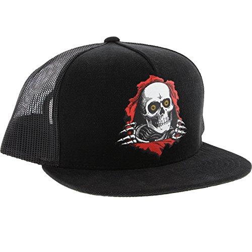 Powell Peralta Ripper Trucker Black / Black Mesh Trucker Hat - Adjustable