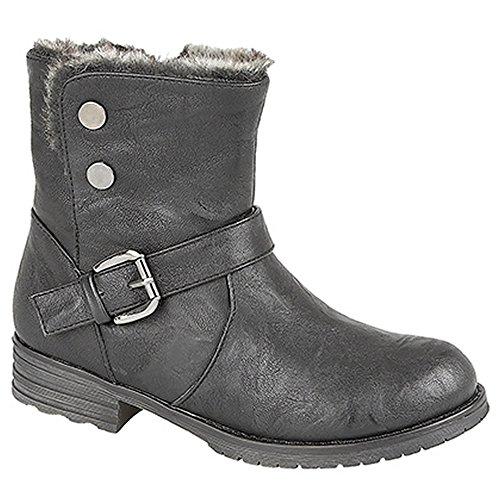 Black Biker Style Boots - 6