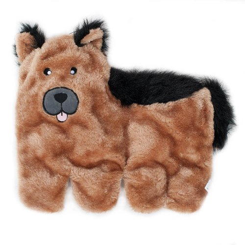 ZippyPaws - Squeakie Pup No-Stuffing Plush Dog Toy, 11 Squea