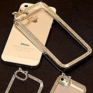 SHOUJIKE iPhone 5/iPhone 5S compatible Crystal Surface/Metallic/Special Design/Diamond Look/Transparent/Novelty Jewel Covered Cases , Silver