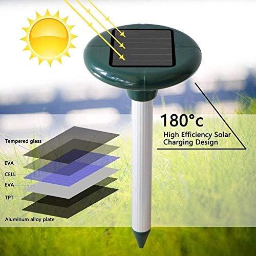 ultras/ónico resistente al agua Vivibel antitopos con protecci/ón IP56 2 unidades de ahuyentador solar de topos repelente de plagas para el jard/ín para animales