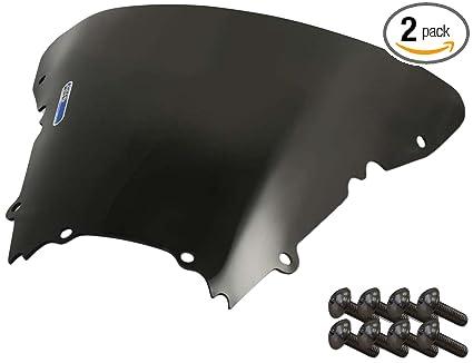 Suzuki Hayabusa 08-14 2 Pack Sportbike Windscreens ADSW-209DS Dark Smoke Windscreen with Silver Screw kit