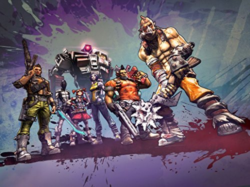 XXW Artwork Borderlands 2 Poster First-person shooter/Machine Gun Prints Wall Decor Wallpaper