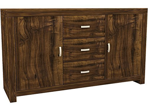 Right Deals UK Hampton Warm Acacia Sideboard - Unique Design GFW - The Furniture Warehouse