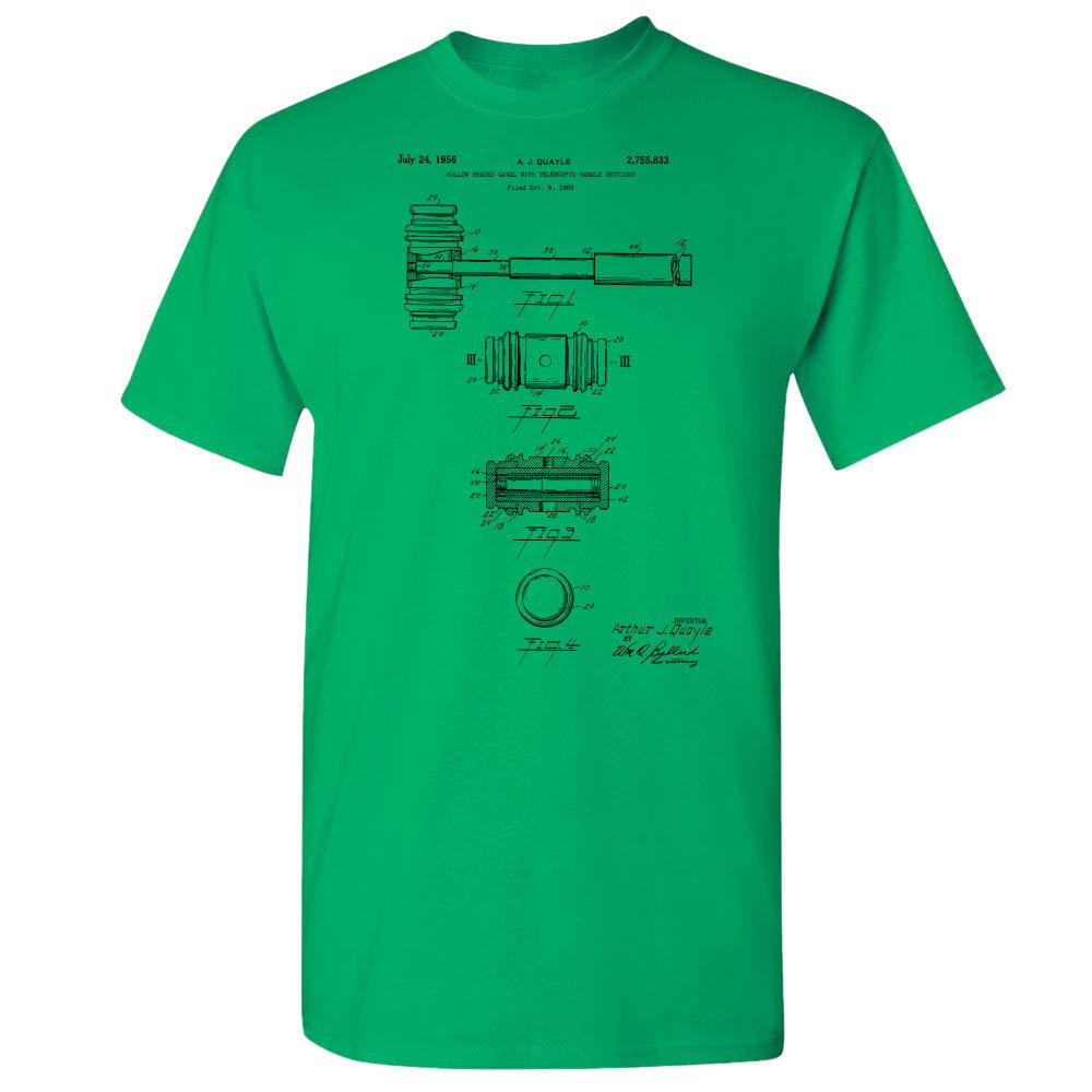 Patent Earth Judges Gavel T-Shirt, Attorney Gifts, Paralegal, Judge Gift, Lawyers Office Irish Green (XL) by Patent Earth