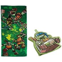 Nickelodeon Teenage Mutant Ninja Turtles 2-Piece Bath Towel and Bath Mitt Set