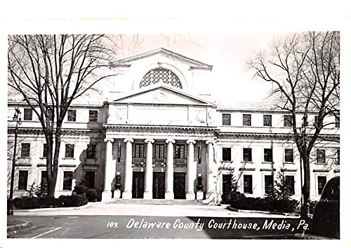 Delaware County Courthouse Media, Pennsylvania postcard at