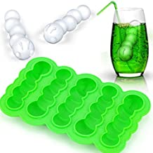 Silicone Ice Cube Tray Whiskey Ice Cube Ball Sphere Mold DIY Jelly Chocolate Ice Mold Maker Random Color