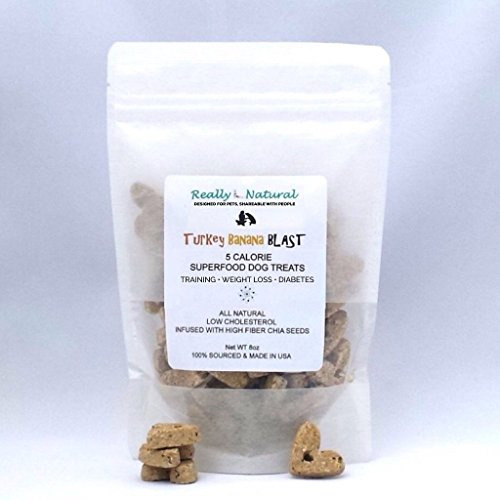 Banana Blast (5 Calorie Superfood Dog Treats: All Natural, No Added Sugar, Non-Allergenic, Sourced & Made in USA: Turkey Banana Blast (One 8 oz Bag, About 65 Treats))