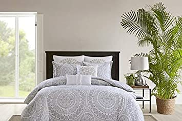 Amazoncom Echo Design Marco Comforter Set Grey Home Kitchen