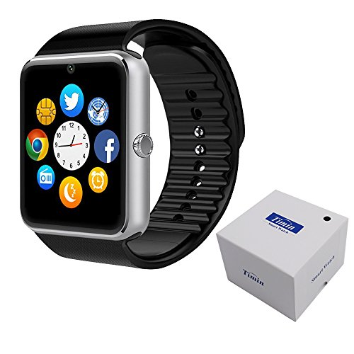 Smart Watch , CulturesIn GT08 Touch Screen Bluetooth WristWatch with Camera/SIM Card Slot/Pedometer Analysis/Sleep Monitoring for Android (Full Functions) and IOS (Partial Functions) (silver)