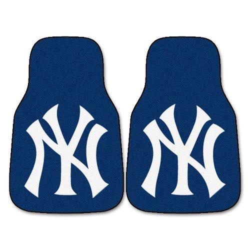FANMATS MLB New York Yankees Nylon Face Carpet Car Mat ()